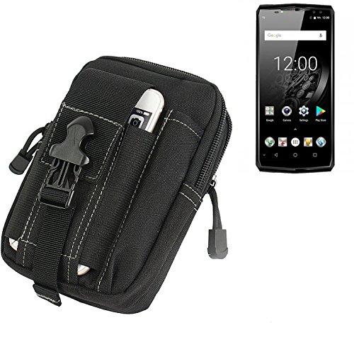 K-S-Trade Gürtel Tasche für Oukitel K10 Gürteltasche Schutzhülle Handy Hülle Smartphone Outdoor Handyhülle schwarz Zusatzfächer
