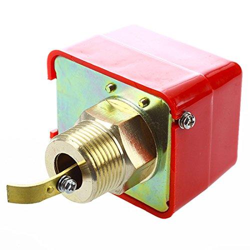 TOOGOO (R) AC 220V 15A Aussengewinde SPDT Wasser Paddelstroemungswaechter HFS-25 (Ac-durchfluss-schalter)