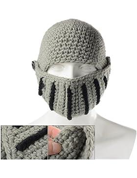 Xcellent Global Gorro de lana de Casco Unisex de Caballero Romano Resistente al viento y al Polvo, Gris SP029H