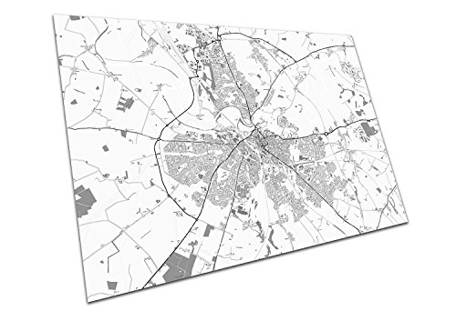 Carlisle England Street Map Names & Road Names City Town Black & White Map Size=A1