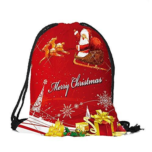 Weihnachtsmann-Bündeltasche I Frohe Weihnachten, Malloom Frohe Weihnachten Süßigkeiten Tasche Satchel Rucksack Bundle Pocket Drawstring Aufbewahrungstasche