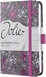 Sigel J8302 Wochenkalender Jolie 2018, ca. A6, Violet Flowers - viele Modelle