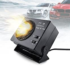 YTYCJSFH 300W 12V auto ceramica riscaldatore sbrinatore per parabrezza sbrinatore Hot fan