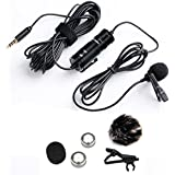 Boya 3.5mm Mini Clip on Mic Omnidirectional Lavalier Label Microphone-20ft Audio Cable- for DSLRs Camcorders Video Cameras and Iphone(Iphone 6) Samsung Smartphone