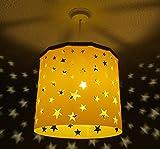 Abat-jour bébé pépinière garderie étoilé + Connecteur Magnétique EREKI pour la décoration de pièce et le changement d'ampoule sans contact (Plus de couleurs et de modèles disponibles). … (Jaune)