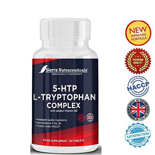 Premium Quality 5HTP L-Tryptophan with Added Vitamin B6 for Maximum Impact. Boosts Serotonin.