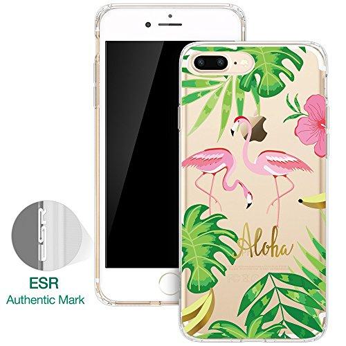 ESR iPhone 8 Plus Hülle, iPhone 7 Plus Hülle, [Weiche TPU Rahmen, Hartem PC Rückdeckel] Kaktusmotiv Schutzhülle für Apple iPhone 8/7 Plus 5.5 Zoll 2017 Freigegeben. (Kaktus) Flamingo