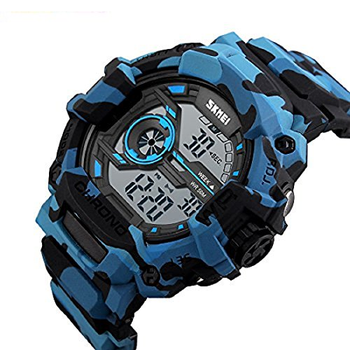 Skmei Multifunction Chronograph Military Blue Digital Sports Watch For Men