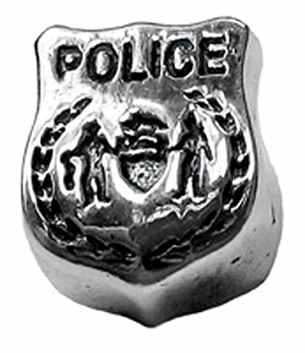 Zable Charm-Anhänger Police Badge Sterling-Silber 925 BZ-1773 (Silber Police Badge)