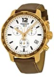 Tissot Quickster Chronograph Silver Dial Brown Leather Gold