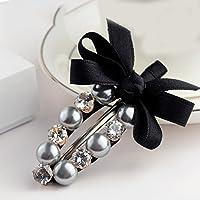XMM Giappone e Corea del Sud Liu capelli cartella ornamenti coreano parola cristallo panno clip di tornanti nodo a farfalla perla imitazione gioielli clip di bordo - Giappone Strass