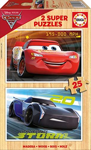 Cars- Set 2 Puzzle, 25 Piezas (Educa Borrás 17173)