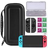 Bestico 7 in 1 Zubeh�r f�r Nintendo Switch, Nintendo Switch Tasche+Game Card H�ll+3x Displayschutzfolie+ Joy-Con Tasche Bild