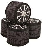 LAY-Z Asiento Cojín 4Unidades. Wheels para Asiento Saco divane Car–Adicional del