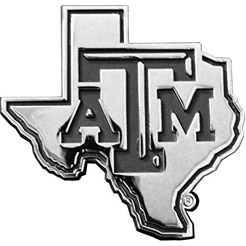 Texas A&M Aggies State 'ATM' Solid Metal Auto Emblem by Stockdale Texas A&m Atm