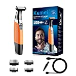 Electric Shavers Beard Trimmer Men Waterproof Beard Grooming Kit With 4 Guide Combs USB Rechargeable Body Groomer And Hair Remover For Eyebrow Beard Facial Body Hair For Men And Women