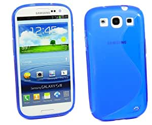 Kit Me Out UK TPU Gel Case for Samsung Galaxy S3 i9300 - Blue S Wave Pattern