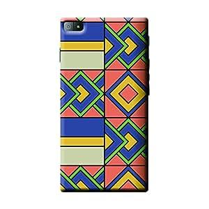 Garmor African Pattern Design Plastic Backcover for BlackBerry Z3- (African 9)