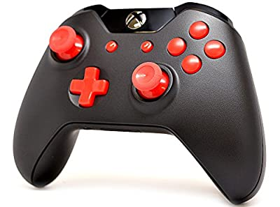 Black/Red Xbox One Custom UN-MODDED Controller Exclusive Design