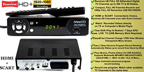 51TtaBd8enL - UK Freeview HD + WiFi Ready Set Top Digi Box Digital TV Receiver & HD 1080P USB Recorder. FULL HD DVB-T2.Terrestrial…