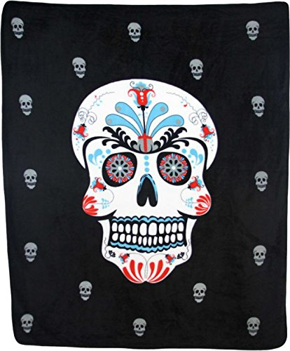 Infinity Republik-Sugar Skull 127x 15,2cm geschoren Plüsch Decke (Throw-kissen Fahne)