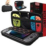 ORZLY® Custodia da Viaggio Nintendo Switch - Guscio Protettivo Portatile per Console e Accessori del Nintendo Switch - Nero
