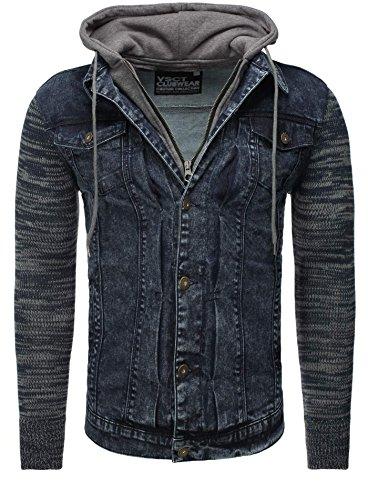Veste Vêtements VSCT Homme Millésime toile Noir Hommes Mince Fit Bleu