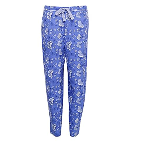 Cyberjammies 3211 Women's Vienna Blue Floral Cotton and Modal Pajama Sleepwear PJs Pyjama Bottoms 42