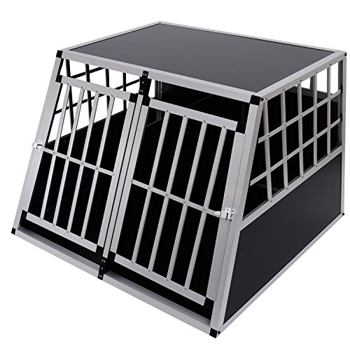 Jaula De Transporte para Perros De Aluminio con Tabique Hermetico Extraible XXL