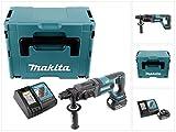 Makita DHR 241 RT1J Akku Bohrhammer 18V Li-Ion mit SDS-Plus Aufnahme im Makpac + 1x BL 1850 5,0 Ah Akku + DC 18 RC Schnellladegerät