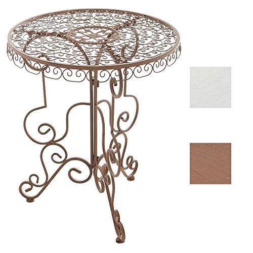 CLP Eisen-Tisch MINORE rund Ø 62 cm, Höhe 72 cm, Design Antik Braun