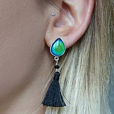 Boucles d'oreilles en cristal qui change de couleur