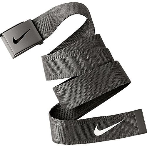 Nike Tech Essential Single Web Cintura de golf per Uomo, Nero, Unica