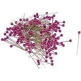 Lot de 144épingles à tête nacrée rose pour couture, taille 40mm x 0,58mm