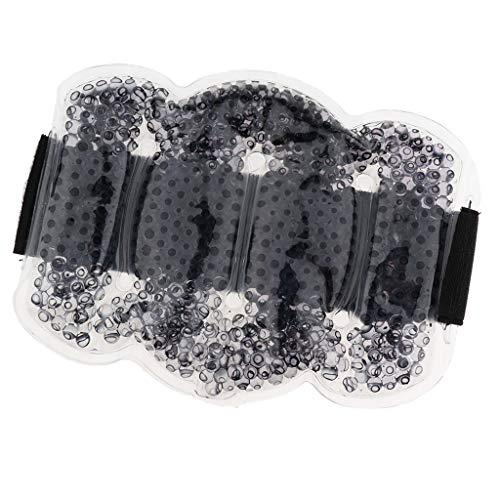 B Baosity Wiederverwendbar Gel Kompresse kalt warm mit Gürtel für Nacken Rücken Mikrowelle, Kühl Kissen Cold Pack Kühlakku - Schwarz, 50 cm