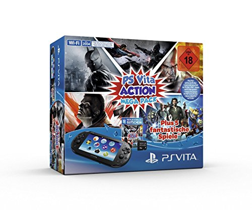 Sony PlayStation Vita (WiFi) inklusive 8 GB Speicher+Action Mega Pack - Bundle Ps Sony Vita