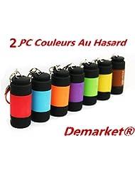 Demarkt 2 pcs LED USB Clé Lampe Torche Poche Portable Porte-clé Rechargeable Etanche 25LM Livraison Au Hasard