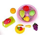 Toyshine Realistic Sliceable Fruit Cutting Play Toy Set (Multicolour)