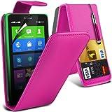 (Pink) Nokia X Custom Designed Stilvolle Accessoires zur Auswahl Schutzmaßnahmen Kunst Credit / Debit-Karten-Leder Flip Case Hülle, Retractable Touch Screen Stylus Pen & LCD-Display Schutzfolie von Hülle Spyrox