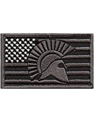 ACU USA American Flag Spartan Molon Labe Subdued Morale Tactical Embroidery Hook&Loop Patch
