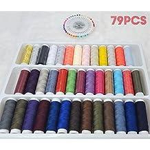 DIKETE® per il cucito Kit , 39 rotoli bobine cucito filati poliestere + 40pcs Round (Discussione Misurazione Fili)