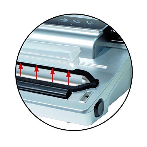 CASO VC100 Vakuumierer - Vakuumiergerät, Lebensmittel bleiben bis zu 8x länger frisch - natürliche Aufbewahrung ohne Konservierungsstoffe, doppelte 30cm lange Schweißnaht, Vakuumregulierung, inkl. 10 gratis Profi-Folienbeutel - 8