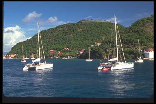 068074-boats-terre-de-haut-off-guadeloupe-french-west-indies-a4-photo-poster-print-10x8