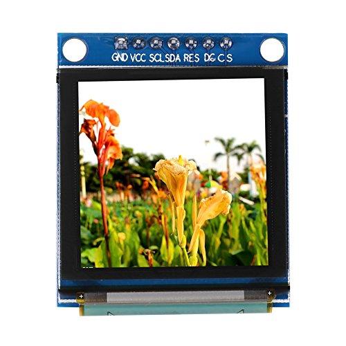 1.5inch OLED-Anzeigemodul I2C IIC SPI Seriell 128 * 128 Farbe OLED LCD Weiß Anzeigemodul für Arduino, SSD135 serielle Peripherie-Schnittstelle OLED-Farbdisplay Grafik-Modul