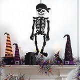 skgardeniamy Piraten Schwarzes Skelett Halloween Türwand Hängende Party zu Hause Beängstigende Dekoration