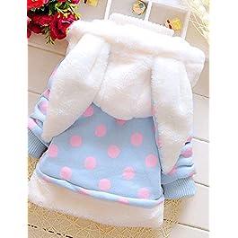Kinlene Moda bambini del cappotto del bambino ragazze spessa imbottito Dot Bow invernali giacca abbigliamento