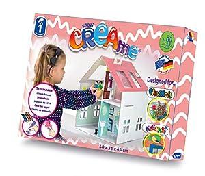Feuchtmann Spielwaren 634.7102 KLECKSi CREAme - Casa de muñecas (cartón, para Pintar y Decorar, Aprox. 40 x 31 x 44 cm, Multicolor
