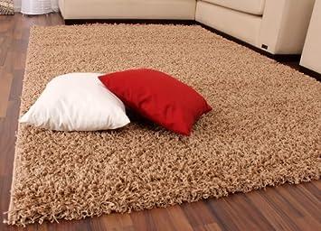 Shaggy Rug High Pile Long Pile Modern Carpet Uni Beige Size