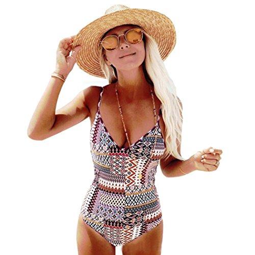 ESAILQ Swimsuit Set, Swimwear Jumpsuit,Women One Piece Push-up Padded Bra Womens Summer Beach Two Piece Strapless Bandage Swimsuit