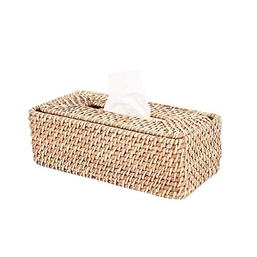 Jiaa Wohnkultur Produkte mit Modernen und Stilvollen Aussehen Design Personalisierte universellen Gebrauch Rattan schwimmende Deckel Saugkarton Schlafzimmer Kosmetiktuch Spender Box Abdeckung Saugkar